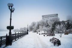 Snow Donetsk, Ukraine. Royalty Free Stock Photos
