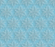 Snow doodle ornament. Winter doodle snowflakes seamless holiday. Pattern. Chrismas tile texture Stock Photos