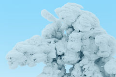 Snow Dragon. Tree plastered with snow in the shape of a dragon. Finnish Lapland Royalty Free Stock Photo