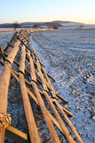 Snow-drift barrier. On the field Stock Photo