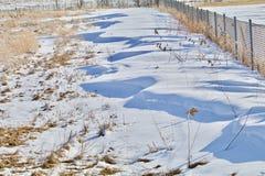 Snow Drift Fence royalty free stock image