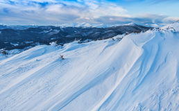 Snow drift in high mountain Stock Photos