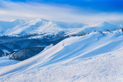 Snow drift in mountain Royalty Free Stock Photo