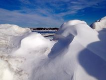 Snow drift ocean Stock Photos
