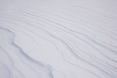 Texture Series - Snow Drift Pattern Vertical. View of small snow drifts on flat landscape royalty free stock image