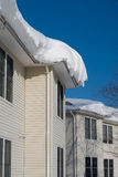 Snow drift on roof Stock Photography