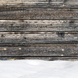 Snow drift on wood boards Stock Images