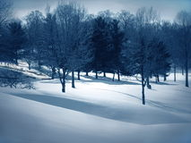 Snow Drifts. Winter snow scene, snow drifts Stock Image