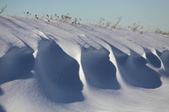 Snow drifts Stock Image