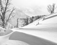 Snow drifts above Stewart's Draw Stock Photo