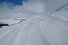Snow drifts on Ben Wyvis Royalty Free Stock Photography