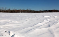 Snow drifts over northern Minnesota Royalty Free Stock Photography