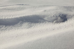 Snow drifts over northern Minnesota Stock Photo