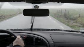 Snow driving stock video