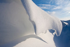 Snow dune in a ditch Royalty Free Stock Images