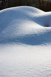 Snow dunes. Natural winter background Royalty Free Stock Photos
