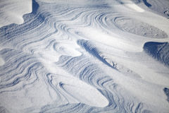 Snow dunes Royalty Free Stock Photo