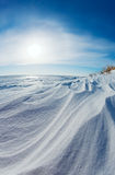 Snow dunes stock photos