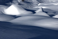 Snow dunes Royalty Free Stock Image