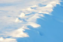 Snow dunes Stock Image