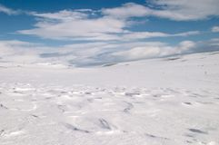 Snow dunes Stock Photography