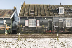 Snow on a Dutch village Royalty Free Stock Photo