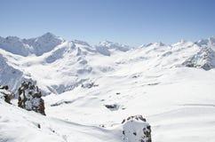Snow Elbrus mountains. The top of Elbrus mountains, Kabardino-Balkaria, Russia Royalty Free Stock Photo