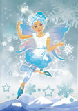 Snow elf girl Royalty Free Stock Photos