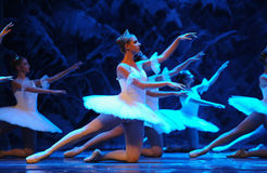 Snow elves-The first act of fourth field snow Country  -The Ballet  Nutcracker. Ukraine Kiev theatre ballet dancers perform the Nutcracker in Nanchang in Royalty Free Stock Photo