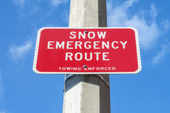 Snow Emergency Route Royalty Free Stock Image