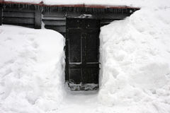 Snow entrance gate Stock Images