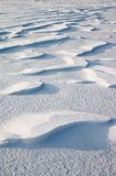 Snow erosion Stock Photography
