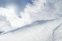 Snow explosion Royalty Free Stock Photos