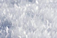 Snow extreme macro Royalty Free Stock Photos