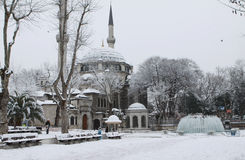 SNOW IN EYUP, ISTANBUL. Royalty Free Stock Photos