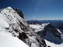 snow för 2 berg Arkivfoto