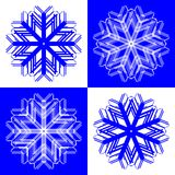 snow för 2 flakes Arkivfoto