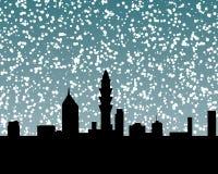 snow för 2 horisont stock illustrationer