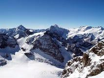snow för 3 berg Arkivbilder