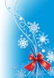 snow för bakgrundsjulblommor Royaltyfri Illustrationer