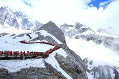 snow för drakejadeberg Arkivfoton