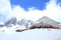 snow för drakejadeberg Arkivfoto