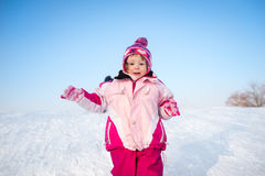 snow för skönhetflickastående Royaltyfri Fotografi