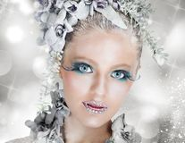 Snow fairy royalty free stock photo