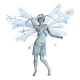 Snow Fairy on White Stock Photography