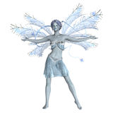 Snow Fairy on White Royalty Free Stock Images