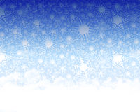 Snow fake background. A decorative illustration of a 3d snow flake background Stock Images