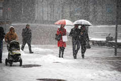 Snow fall Stock Image