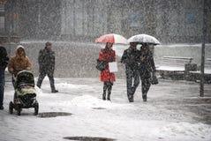 Snow fall Stock Image