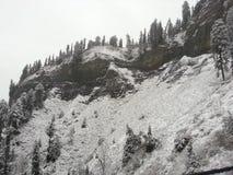 Snow fall. In Azad Kashmir Pakistan stock photos
